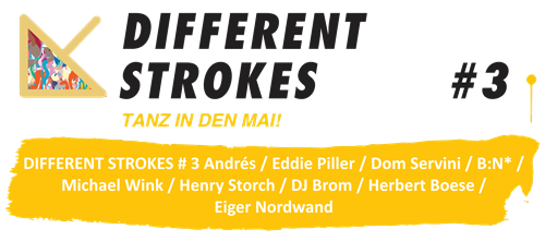 Different Strokes #3 - Tanz in den Mai (Flyer)