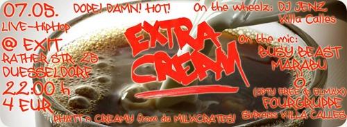 Extra Cream mit Marabu, Busy Beast, Ö & Fourgruppe (Flyer)