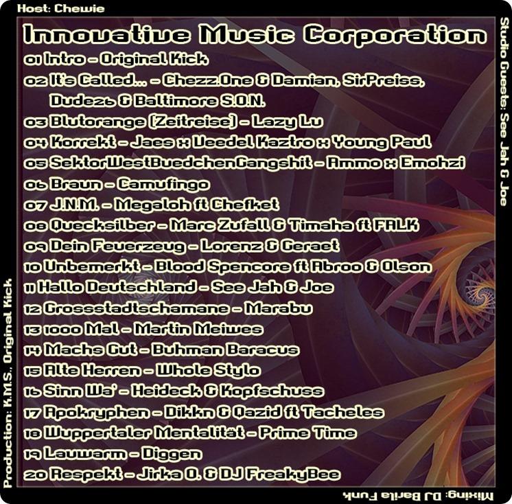 IMC Mixshow 1603 mit See Jah & Joe (Tracklist)