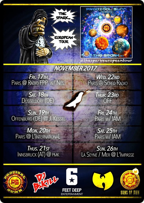 Prodigal Sunn - The Spark European Tour (Flyer)